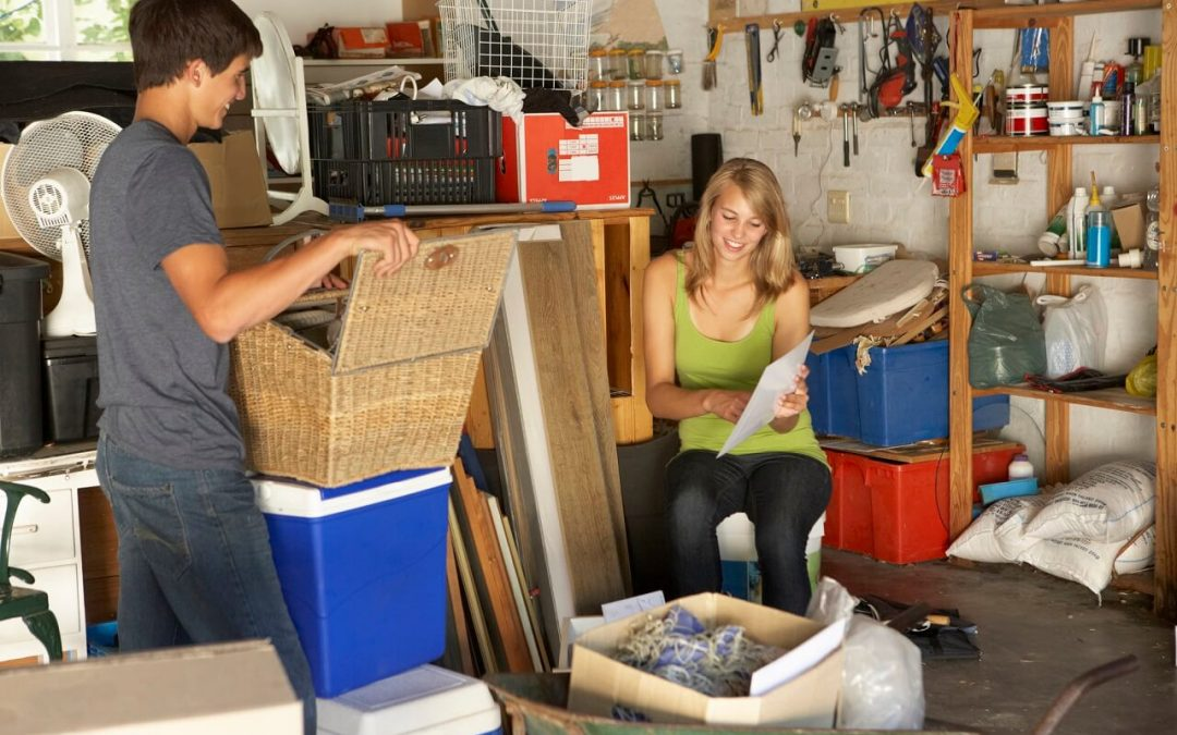 declutter your home by figuring out how to use storage spaces