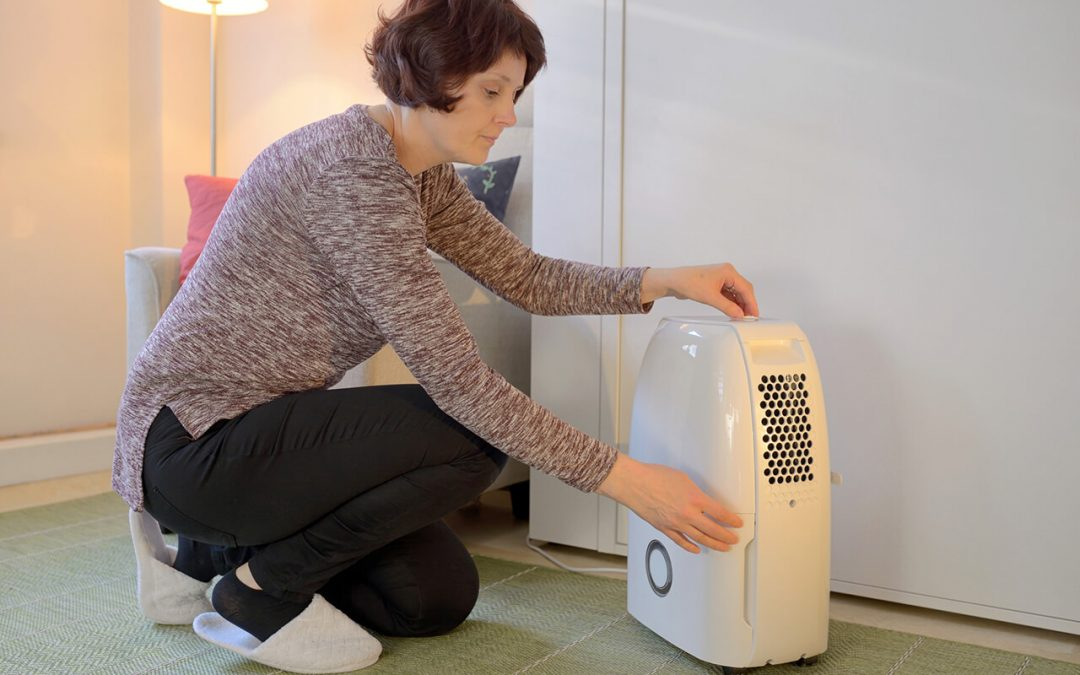 reduce humidity in the home by using a dehumidifier